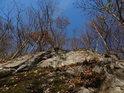 Vylámaná skála na pravém břehu Svitavy u silnice je součástí chráněného území Malužín.
