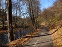 Cyklostezka po levém břehu Svitavy od Brna na Bílovice.