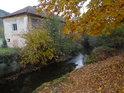 Řeka Svitava ve městě Březová nad Svitavou